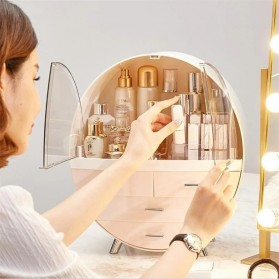 Mystica Rak Make Up Kosmetik Storage Box Bathroom Organizer Acrylic Desktop  - A1907 - Gray - 5