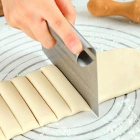 MOQI Spatula Scraper Kape Kue Tart Pizza Cutter - CJ08 - Silver - 4