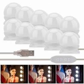 Luckyled Lampu LED Cermin Makeup Kamar Mandi Warm White 10 Pcs - Pink