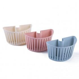 CELLDEAL Rak Gantung Cuci Piring Kitchen Drain Basket Dapur - VC25 - Pink
