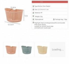 CELLDEAL Rak Gantung Cuci Piring Kitchen Drain Basket Dapur - VC25 - Pink - 3