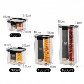 TaffHOME Toples Wadah Penyimpanan Makanan Food Storage Container 700ML - FTK227 - Transparent - 8