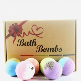 BREYLEE Bath Bombs Salt Sabun Mandi Bathtube Bubble Essential Oil 12 PCS - BB12 - Multi-Color