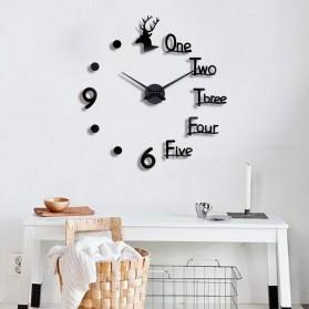 FAROOT Jam Dinding DIY Giant Wall Clock Quartz Creative Design - SI23 - Black - 2