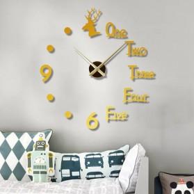 FAROOT Jam Dinding DIY Giant Wall Clock Quartz Creative Design - SI23 - Black - 3