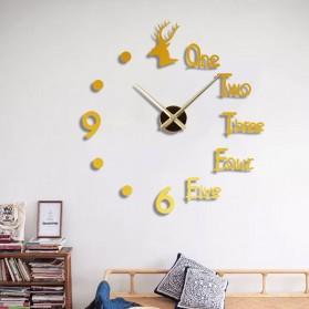 FAROOT Jam Dinding DIY Giant Wall Clock Quartz Creative Design - SI23 - Black - 4