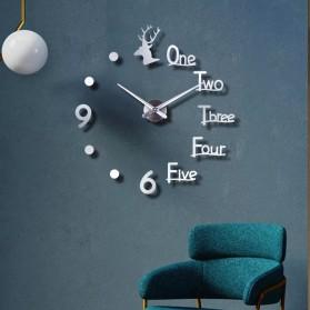 FAROOT Jam Dinding DIY Giant Wall Clock Quartz Creative Design - SI23 - Black - 5