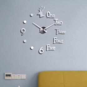 FAROOT Jam Dinding DIY Giant Wall Clock Quartz Creative Design - SI23 - Black - 6