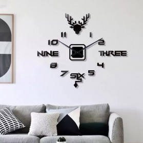 FAROOT Jam Dinding DIY Giant Wall Clock Quartz Creative Design - SI24 - Black