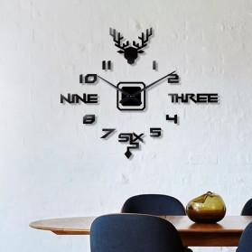 FAROOT Jam Dinding DIY Giant Wall Clock Quartz Creative Design - SI24 - Black - 2