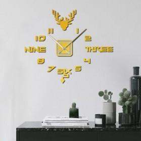 FAROOT Jam Dinding DIY Giant Wall Clock Quartz Creative Design - SI24 - Black - 3