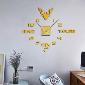 FAROOT Jam Dinding DIY Giant Wall Clock Quartz Creative Design - SI24 - Black - 4