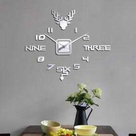 FAROOT Jam Dinding DIY Giant Wall Clock Quartz Creative Design - SI24 - Black - 5