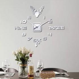 FAROOT Jam Dinding DIY Giant Wall Clock Quartz Creative Design - SI24 - Black - 6