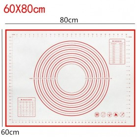 AMW Baking Mat Alas Adonan Kue Fondant Silikon 60x80cm - JJ34006 - Red