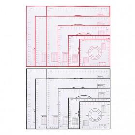 AMW Baking Mat Alas Adonan Kue Fondant Silikon 60x80cm - JJ34006 - Red - 7