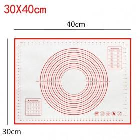 AMW Baking Mat Alas Adonan Kue Fondant Silikon 40x30cm - JJ34004 - Red