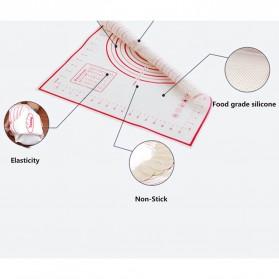 AMW Baking Mat Alas Adonan Kue Fondant Silikon 40x30cm - JJ34004 - Red - 5