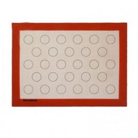 AMW Baking Mat Alas Adonan Kue Macaron Silikon 40x30cm - JJ34001 - Brown - 3