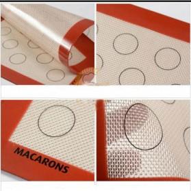 AMW Baking Mat Alas Adonan Kue Macaron Silikon 40x30cm - JJ34001 - Brown - 5
