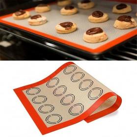 TEENRA Alas Masak Non-stick Reusable Cake Oven Baking Tray Mat Silicone Fiberglass - TW-295 - Red