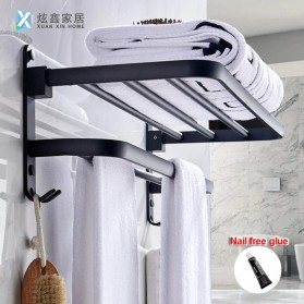 XUANXIN Rak Gantungan Handuk Kamar Mandi Bathroom Towel Holder Hook - TKLJ002 - Black