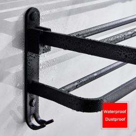 XUANXIN Rak Gantungan Handuk Kamar Mandi Bathroom Towel Holder Hook - TKLJ002 - Black - 3