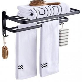 XUANXIN Rak Gantungan Handuk Kamar Mandi Bathroom Towel Holder Hook - TKLJ002 - Black - 5