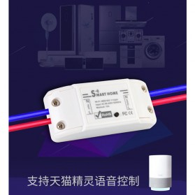 Tuya WiFi Smart Switch Light Sensor Universal Breaker Timer - JL-SS-02 - White