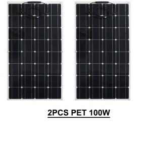 ALLPOWER Flexible Solar Panel 3M Cable 12V 200W  - BPS32 - Black - 4