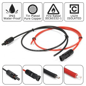 ALLPOWER Flexible Solar Panel 3M Cable 12V 200W  - BPS32 - Black - 5