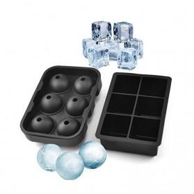 Winzwon Cetakan Es Batu Ice Cube Tray Mold Model Cube + Ball 2 PCS - CW76685 - Black - 2