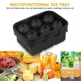 Winzwon Cetakan Es Batu Ice Cube Tray Mold Model Cube + Ball 2 PCS - CW76685 - Black - 5