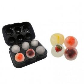 Winzwon Cetakan Es Batu Ice Cube Tray Mold Model Cube + Ball 2 PCS - CW76685 - Black - 7