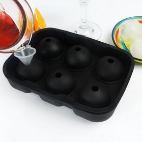 Winzwon Cetakan Es Batu Ice Cube Tray Mold Model Cube + Ball 2 PCS - CW76685 - Black - 8