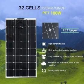 ALLPOWER Flexible Solar Panel 3M Cable 12V 100W  - BPS32 - Black - 2