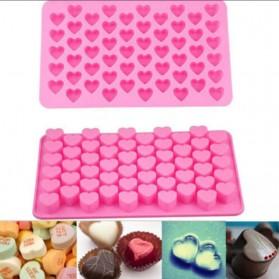 Winzwon Cetakan Coklat Es Batu Ice Cube Tray Mold Model Love - HP8163 - Pink - 2