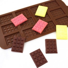 Winzwon Cetakan Coklat Es Batu Ice Cube Tray Mold Model Chocolate Bar - HP8164 - Chocolate