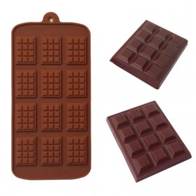 Winzwon Cetakan Coklat Es Batu Ice Cube Tray Mold Model Chocolate Bar - HP8164 - Chocolate - 2