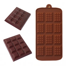 Winzwon Cetakan Coklat Es Batu Ice Cube Tray Mold Model Chocolate Bar - HP8164 - Chocolate - 4