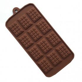 Winzwon Cetakan Coklat Es Batu Ice Cube Tray Mold Model Chocolate Bar - HP8164 - Chocolate - 7
