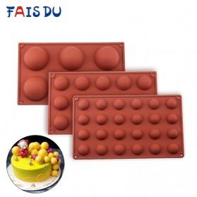Winzwon Cetakan Coklat Es Batu Ice Cube Tray Mold Model 15 Ball - DU995 - Chocolate - 2