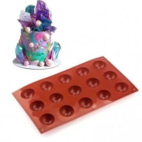 Winzwon Cetakan Coklat Es Batu Ice Cube Tray Mold Model 15 Ball - DU995 - Chocolate - 4
