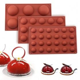 Winzwon Cetakan Coklat Es Batu Ice Cube Tray Mold Model 15 Ball - DU995 - Chocolate - 5