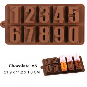 Winzwon Cetakan Coklat Es Batu Ice Cube Tray Mold Model Number 0-9 - DU995 - Chocolate