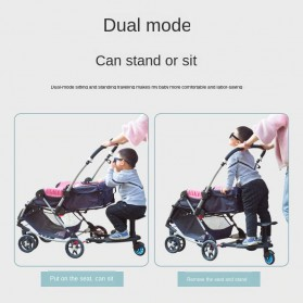 VKTECH Tempat Duduk Tambahan Anak untuk Stroller Bayi - TC-012 - Black - 9