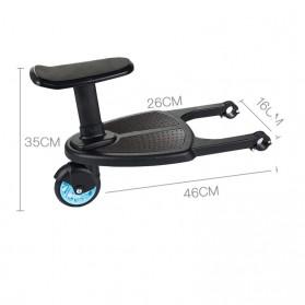 VKTECH Tempat Duduk Tambahan Anak untuk Stroller Bayi - TC-012 - Black - 10