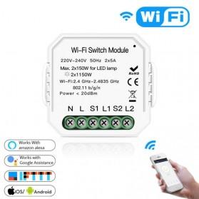 Module Controller WiFi Switch Module Smart Home Control - S2L2 - White