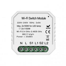 Module Controller WiFi Switch Module Smart Home Control - S2L2 - White - 2