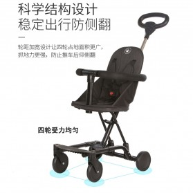 SAITONG Kereta Stroller Bayi Foldable Children Baby Trolley with Fence - LW-112 - Black